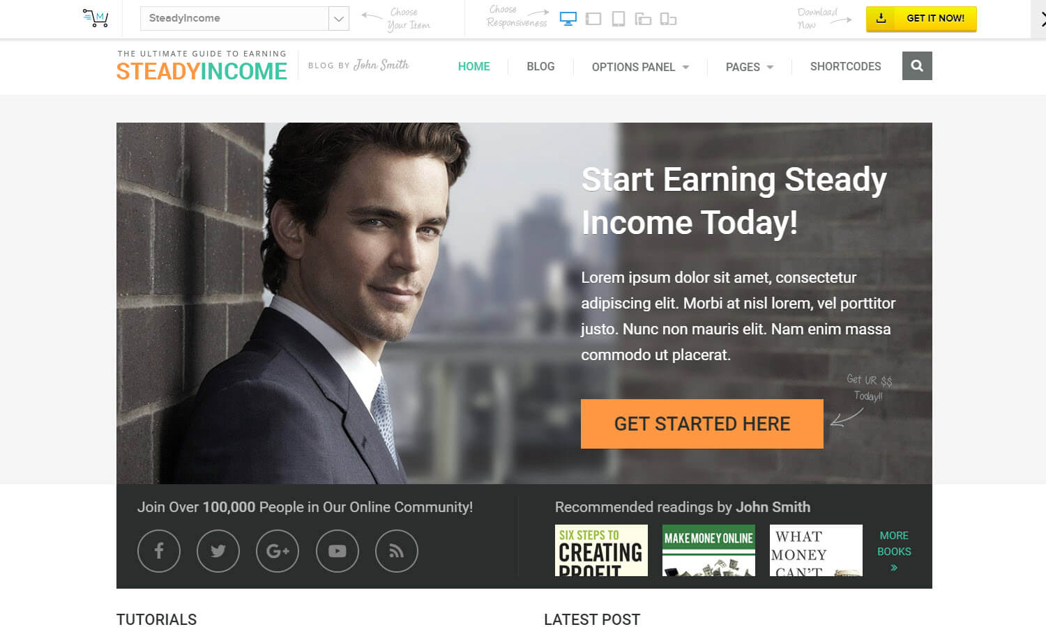 SteadyIncome captura de pantalla