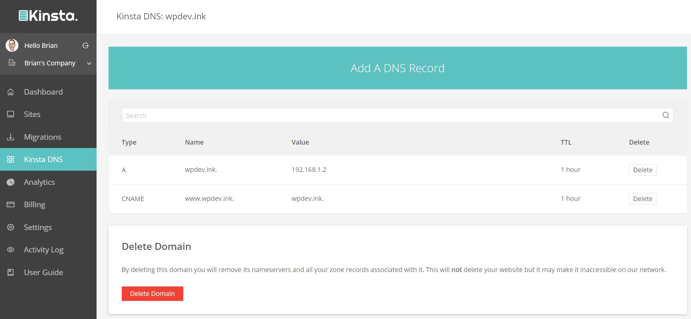 DNS récords