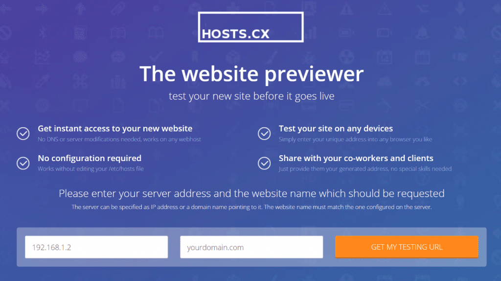 Website previewer