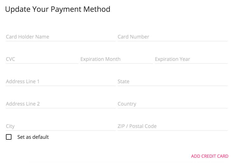 Formulario de Tarjeta de Crédito