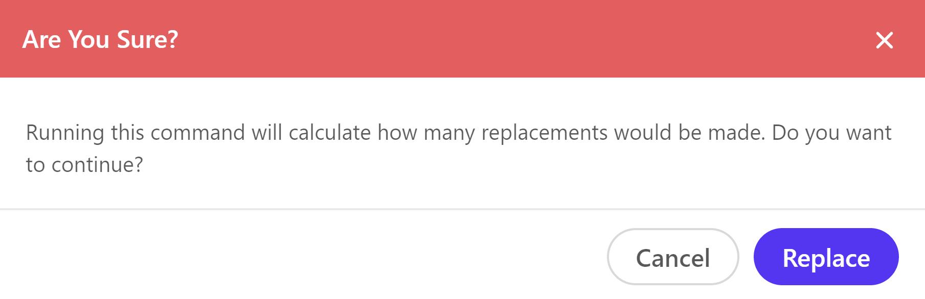 Calcular el número de reemplazos
