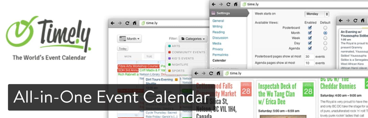 El plugin All-in-One Event Calendar para WordPress