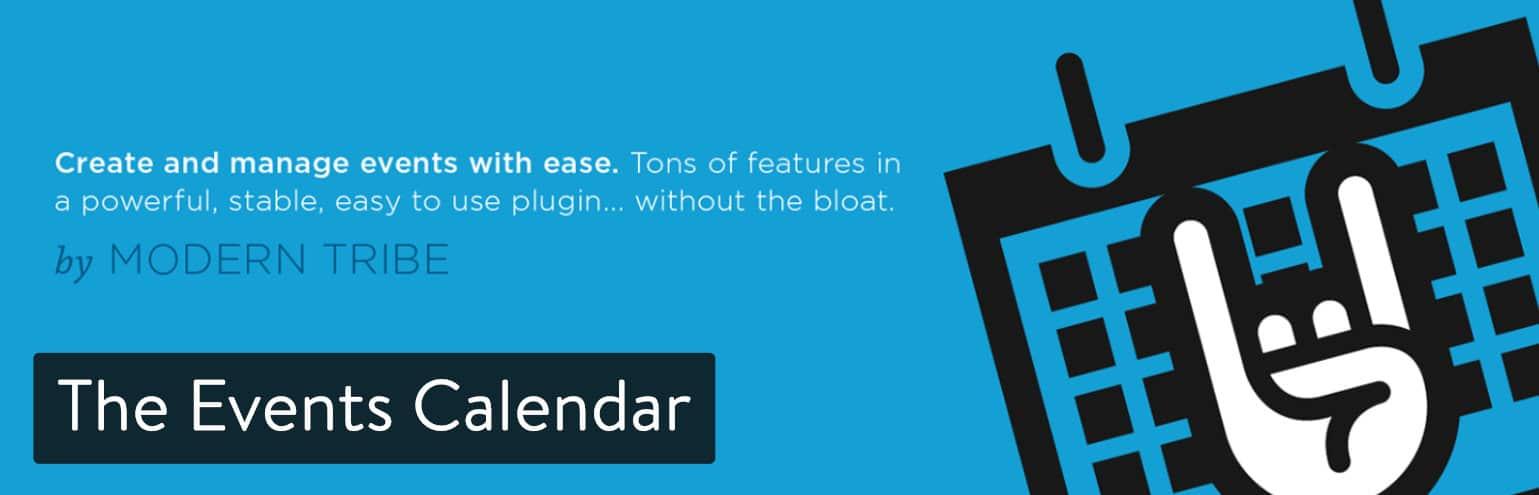 El plugin The Events Calendar para WordPress