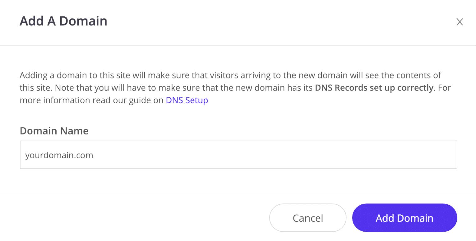 Añadir un dominio
