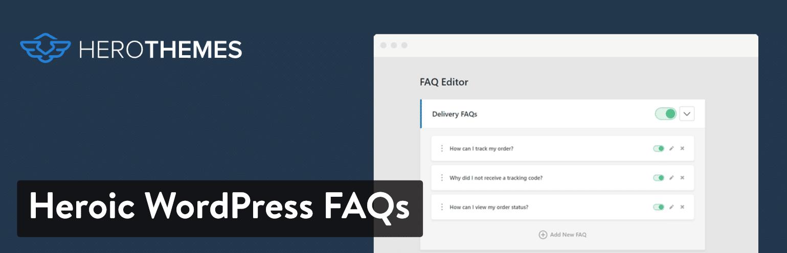 Plugin Heroic WordPress FAQ
