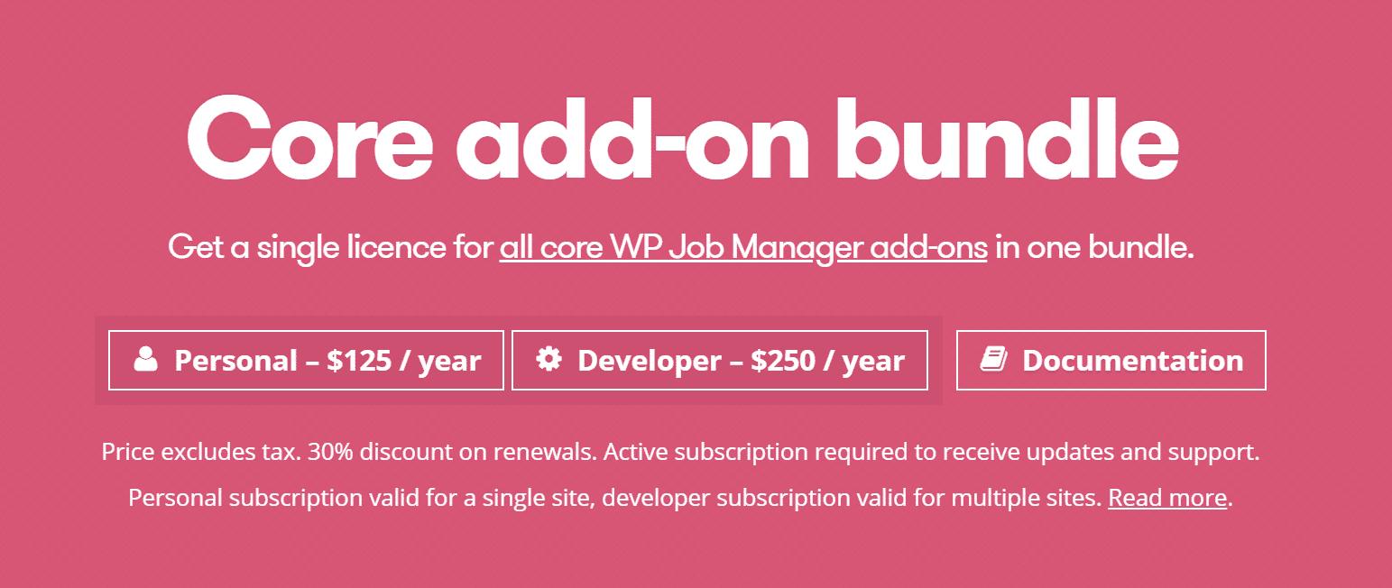 Add-ons para WP Job Board