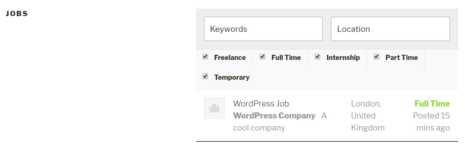 Aplicando a un empleo
