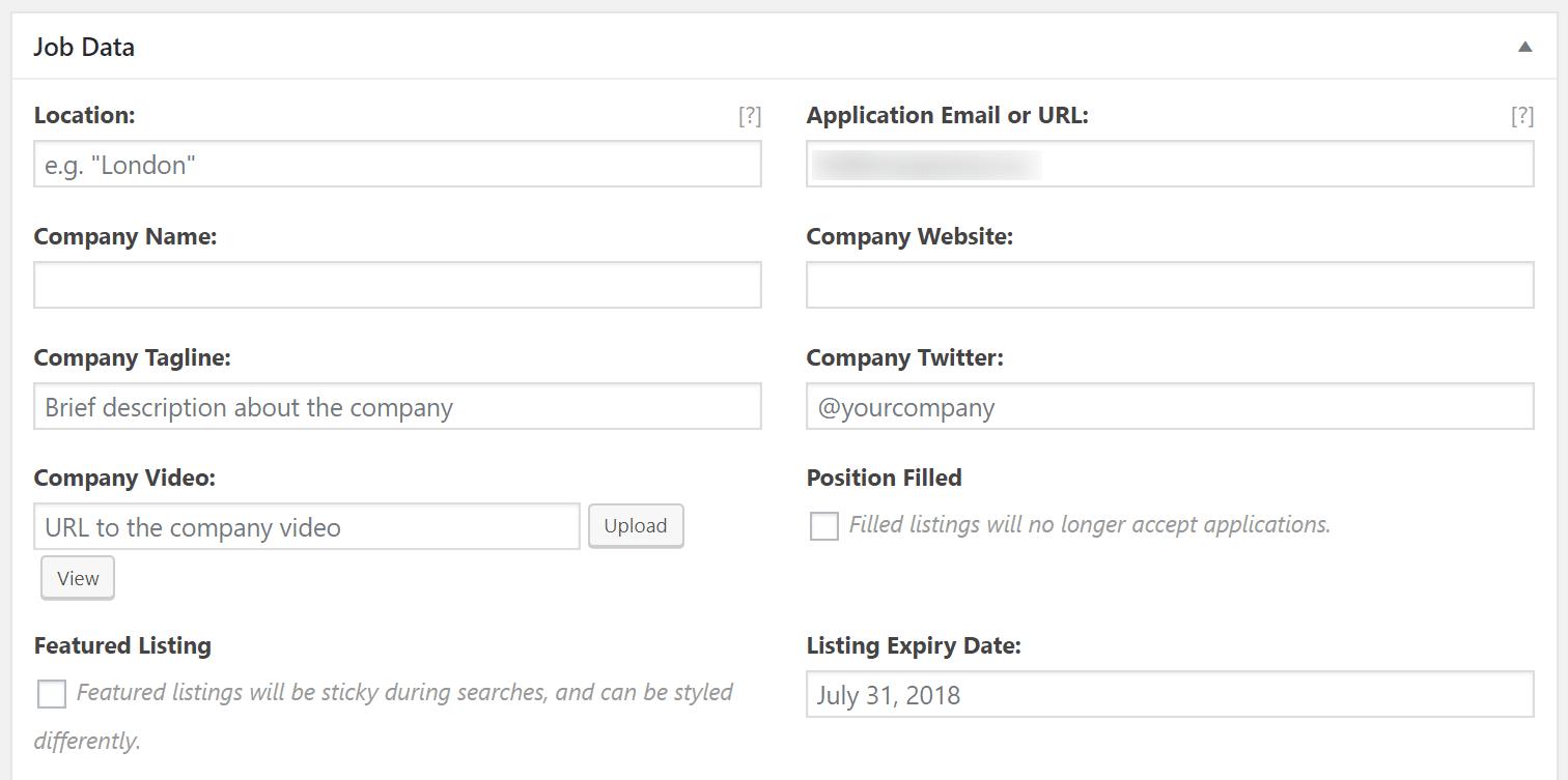 Publicando un empleo