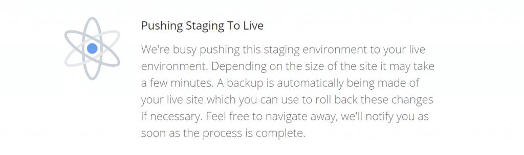Pasar entorno de staging a producción