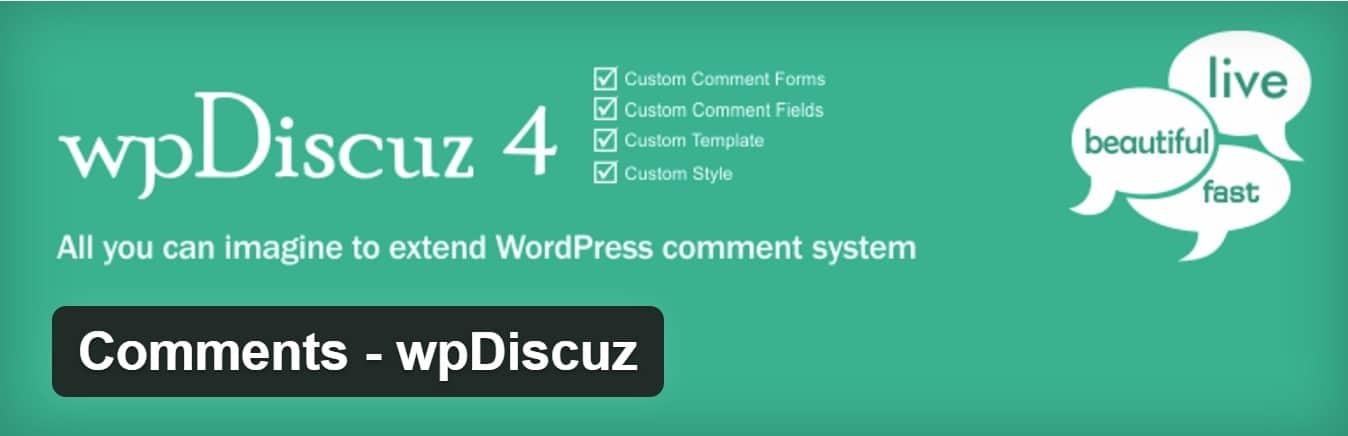 Plugin de wpDiscuz para WordPress