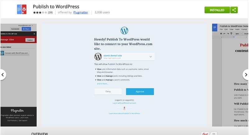 Publish to WordPress