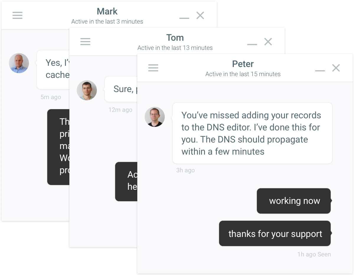 Soporte por chat en un hosting administrado de WordPress