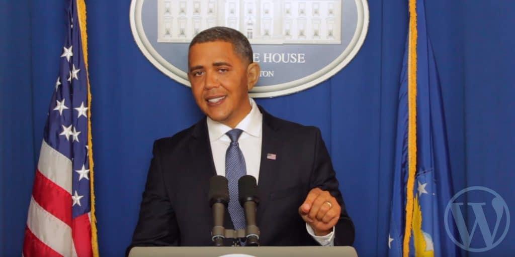 president obama endorses wordpress