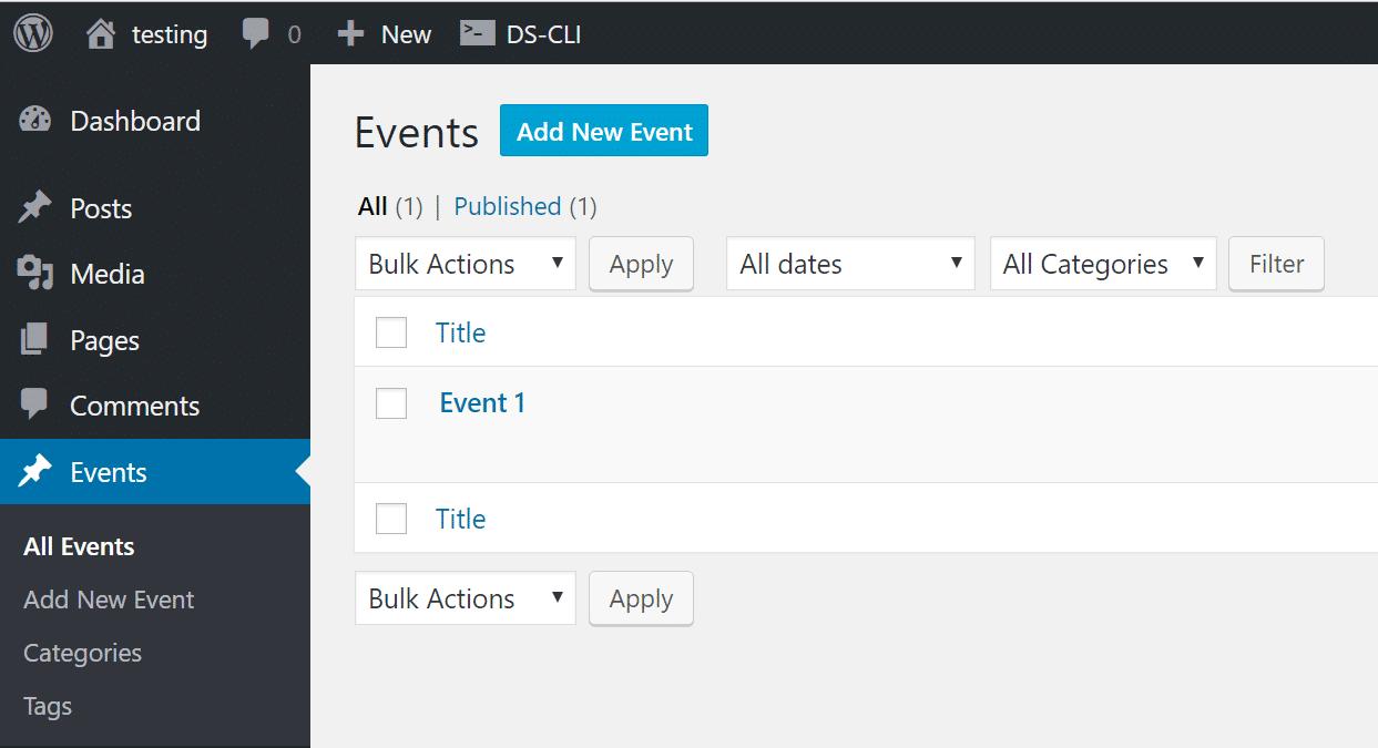wordpress events