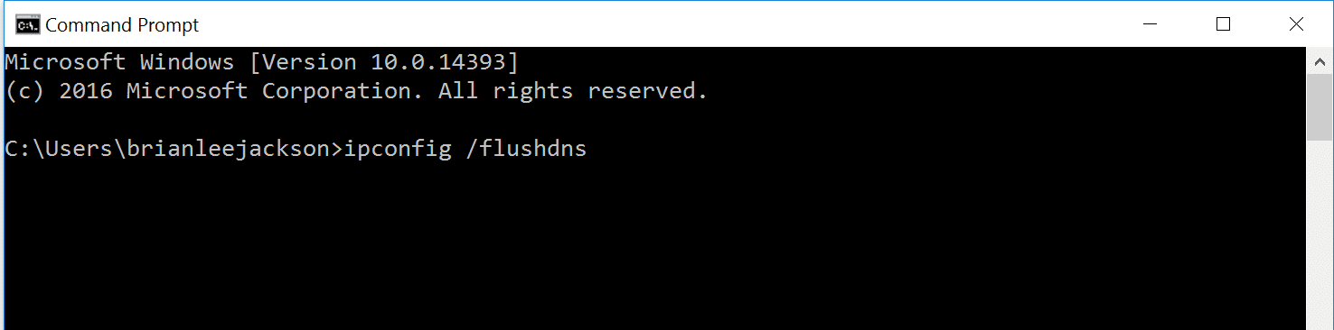 ipconfig/flushdns