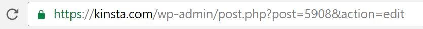 Post ID en la barra de dirección