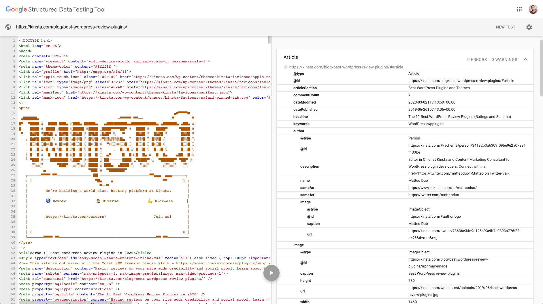 Esquema de datos estructurados de Google