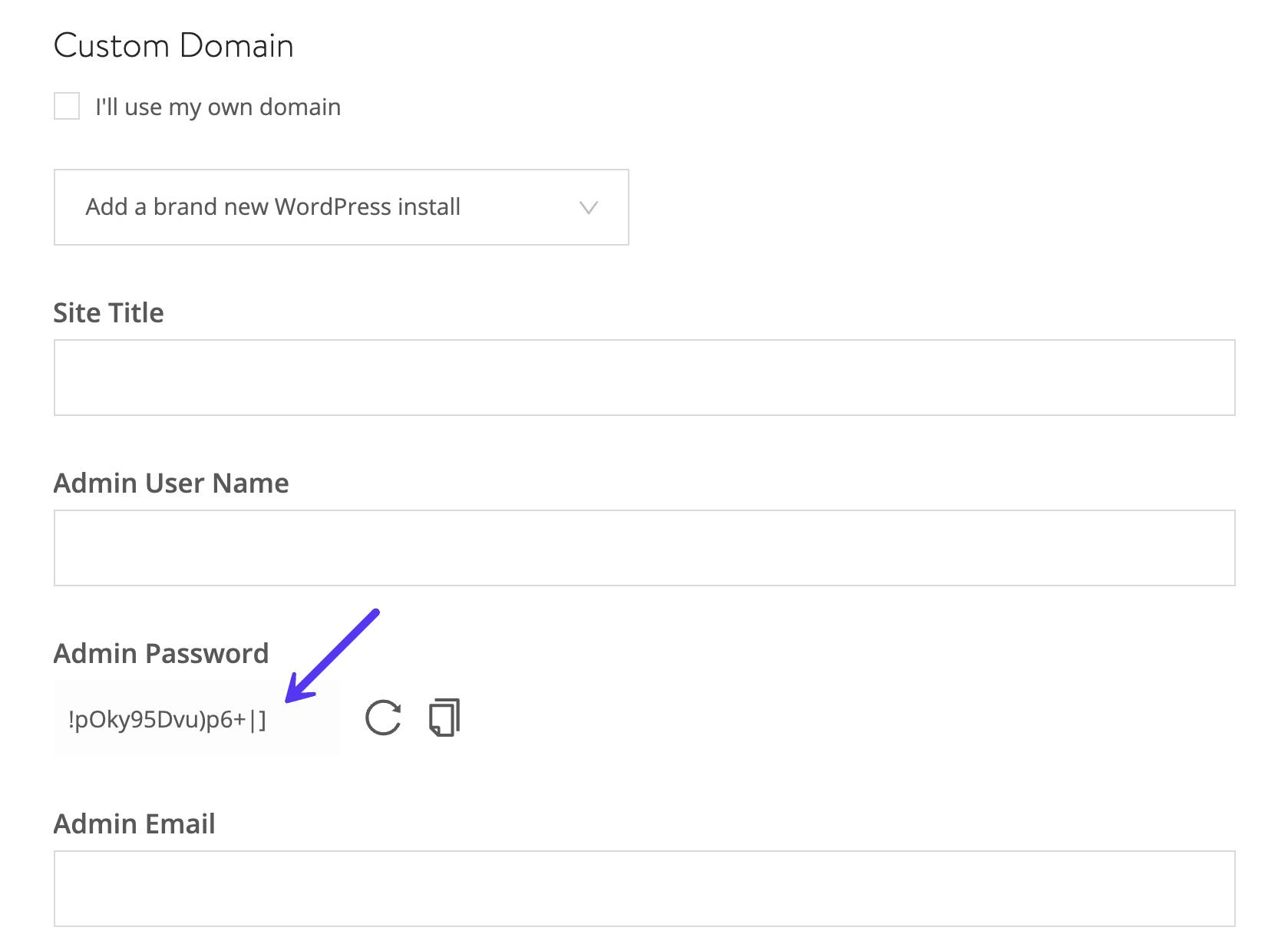 Forzaruna contraseña de WordPress segura