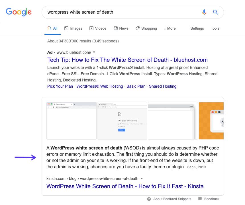 Gráfico de conocimiento de Google