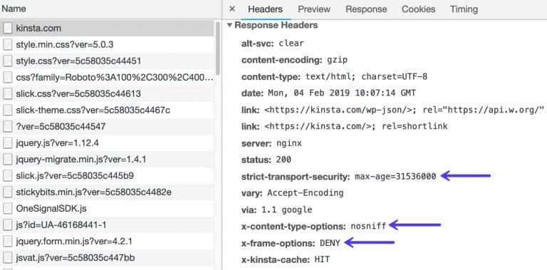 Encabezados de seguridad HTTP