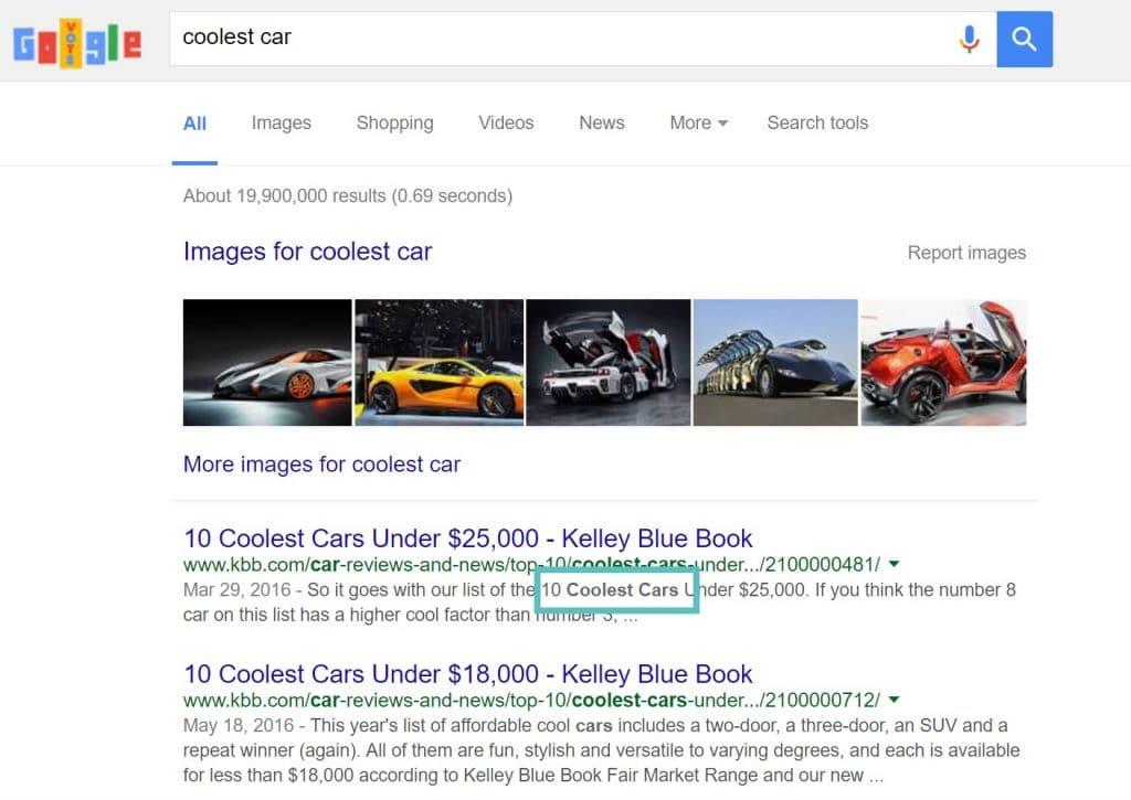 Descripción meta en Google