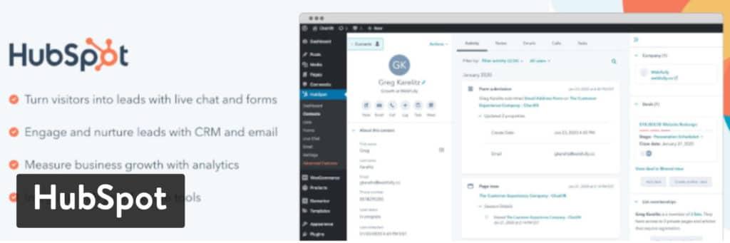 Plugin HubSpot WordPress