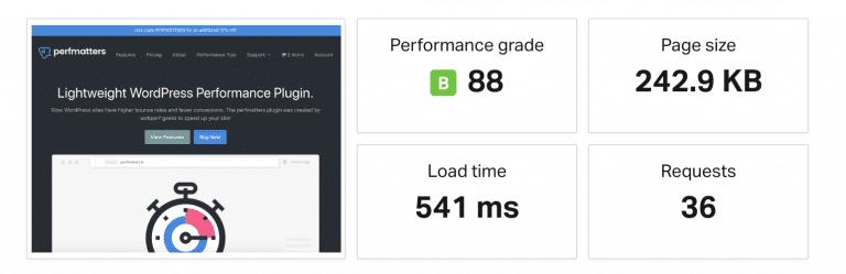 Las pruebas de velocidad de Pingdom antes del DNS y la cache