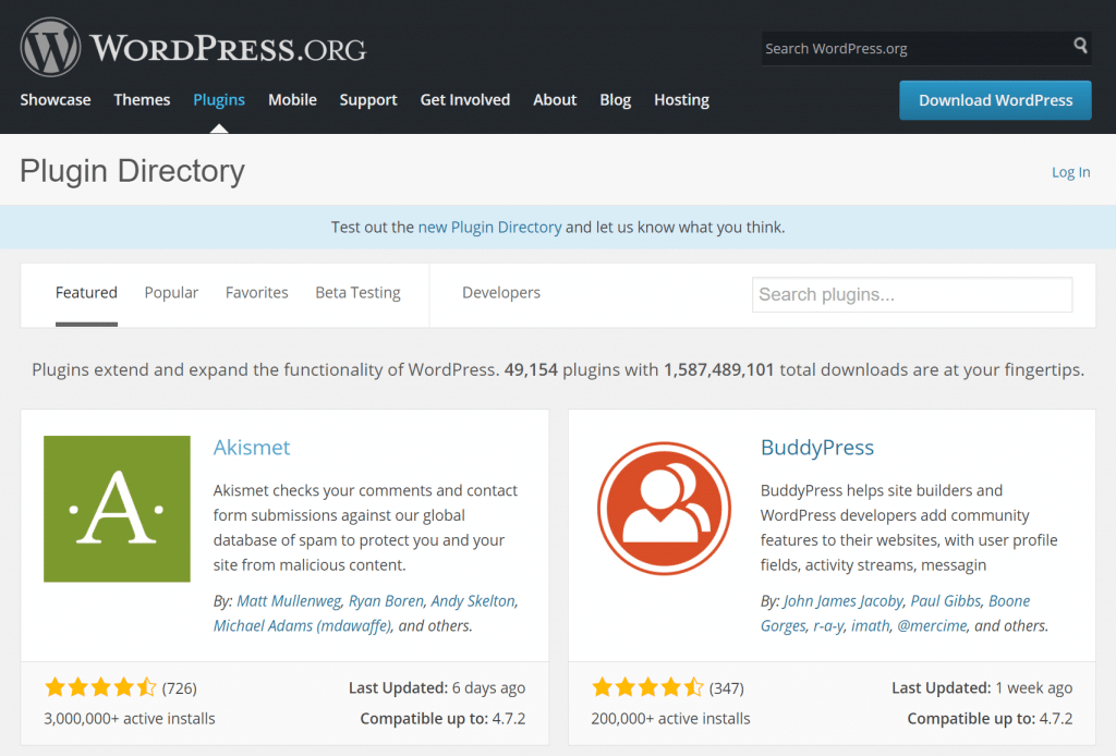 repositorio wordpress