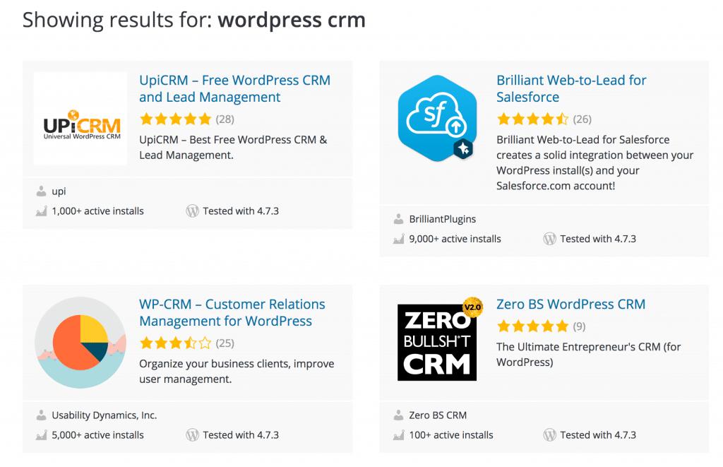 WordPress CRM plugins