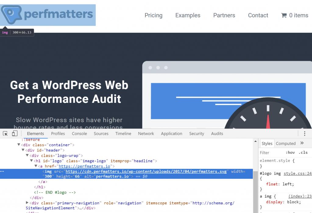 Cabecera de SVG en WordPress