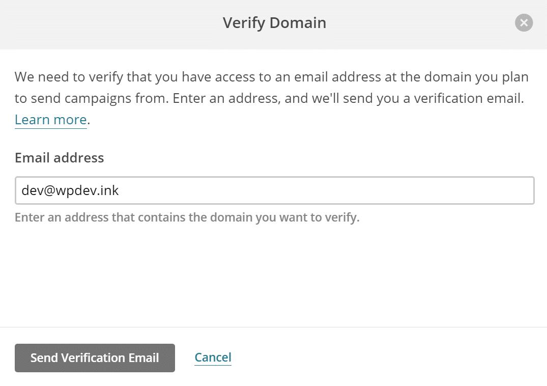 Enviar email de verificación