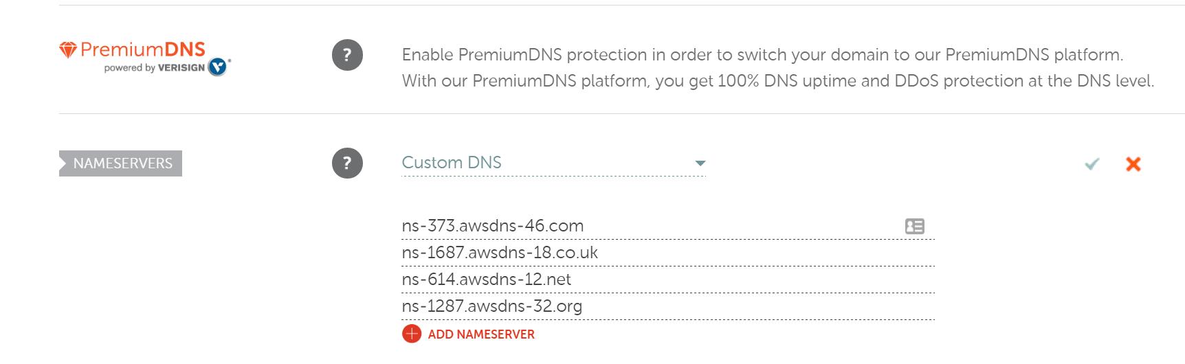 Namecheap servidores de nombres DNS personlizado