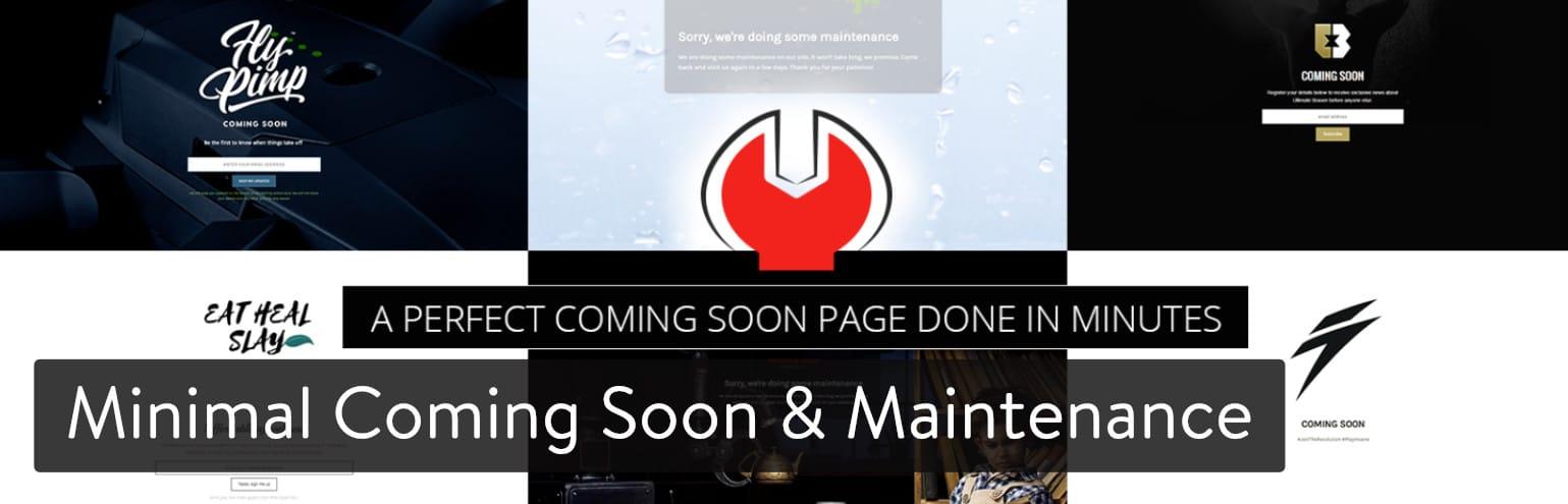 Plugin de Minimal Coming Soon & Maintenance Mode for WordPress