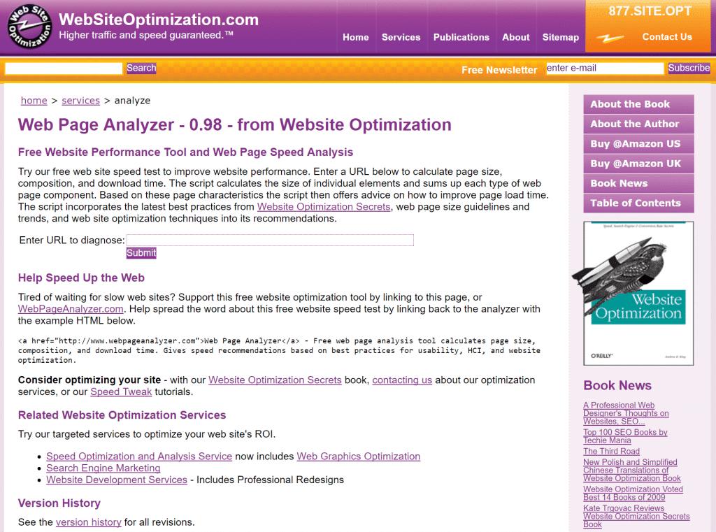 Web Page Analyzer