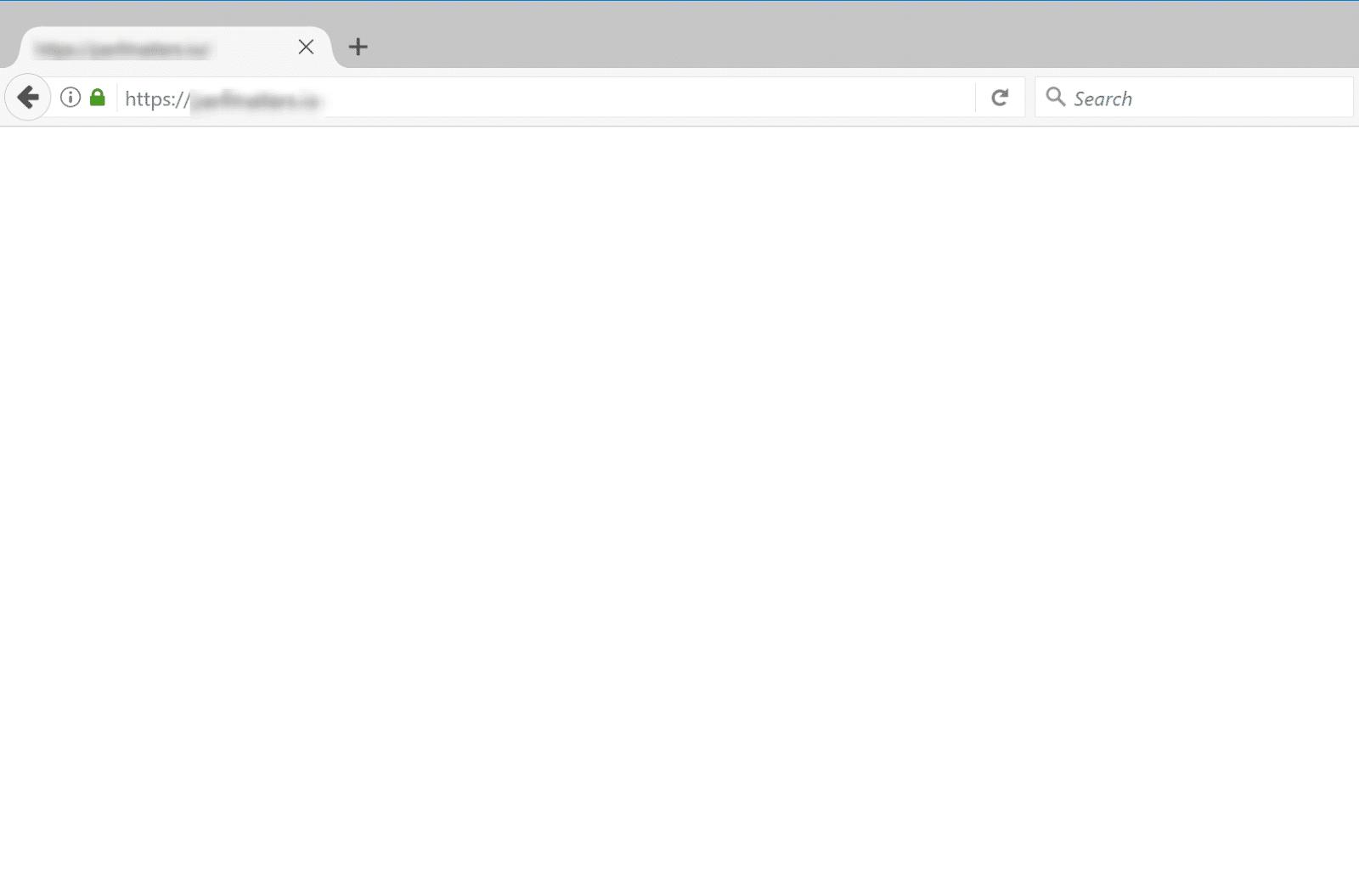 El WSoD de WordPress en Mozilla Firefox