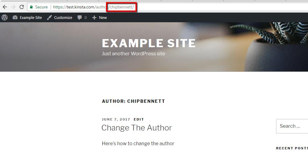 Slug del autor