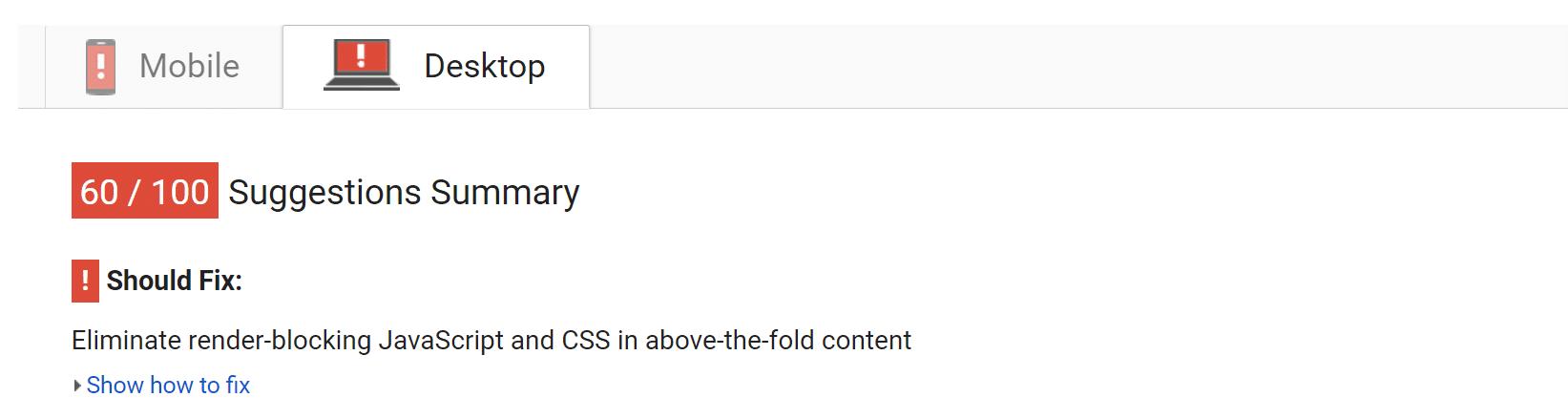 """Eliminar los bloqueadores de visualización JavaScript y CSS en el contenido """"above-the-fold"""""""