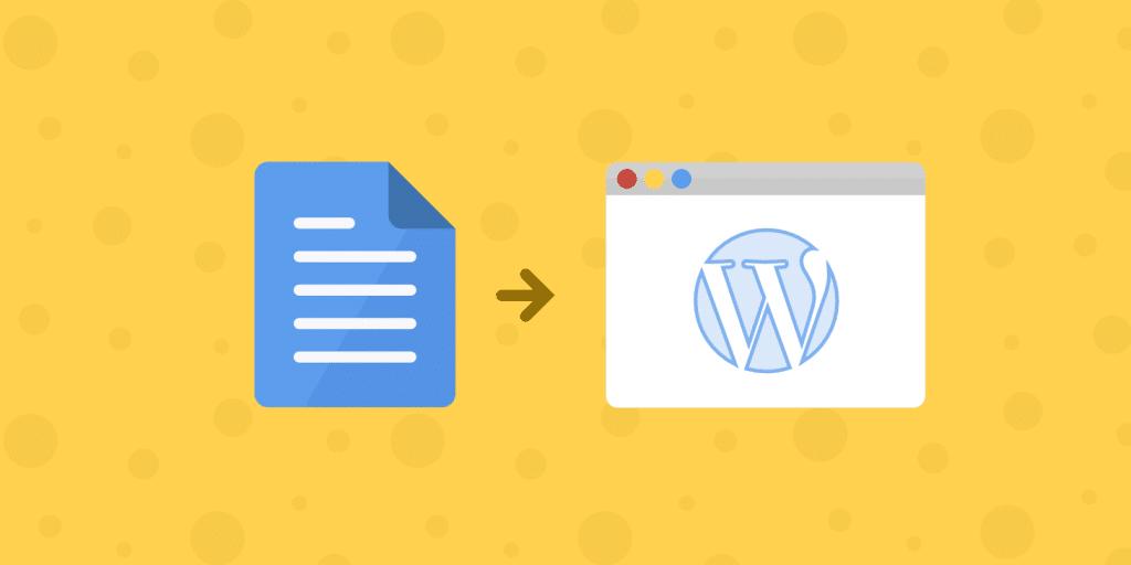 Google Docs a WordPress