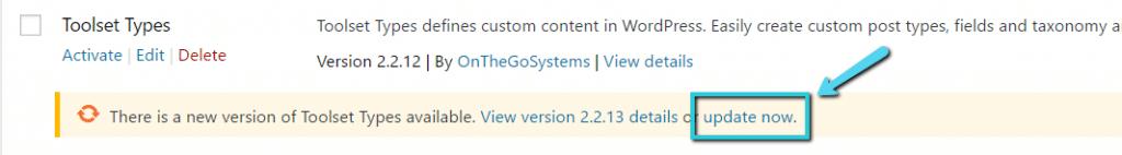 WordPress plugin «Actualizar ahora»
