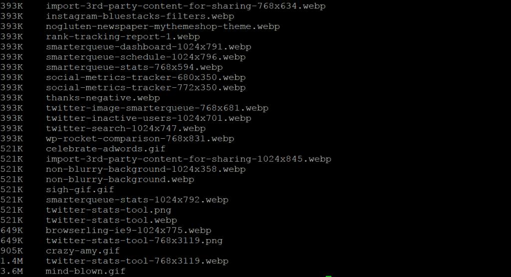 Los archivos grandes de SSH