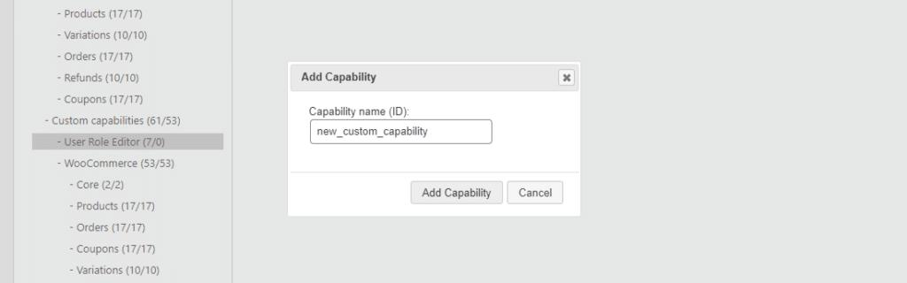 Añadiendo una nueva capacidad en el editor de funciones de usuario