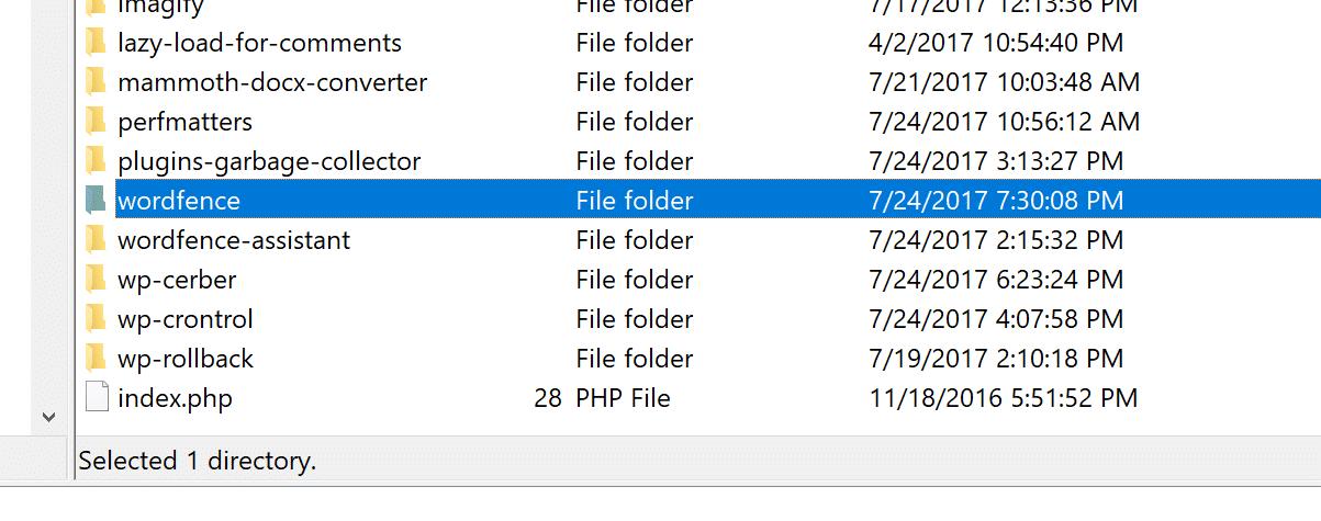 Eliminar el plugin de WordPress vía FTP