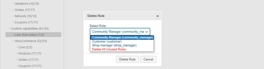 Eliminar fácilmente los roles de usuario no asignados