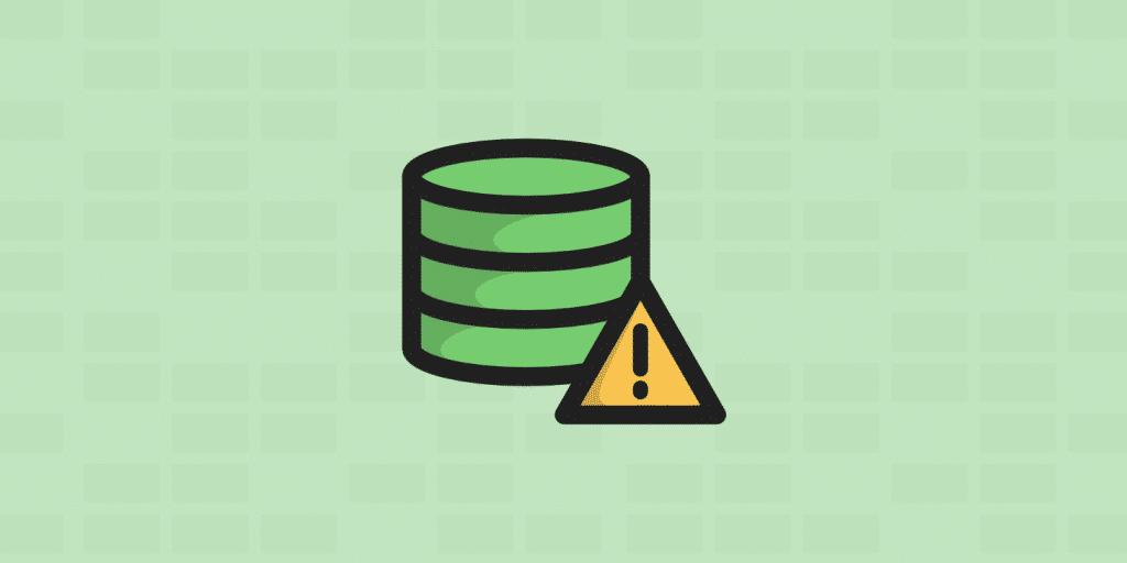 error de conexión a la base de datos