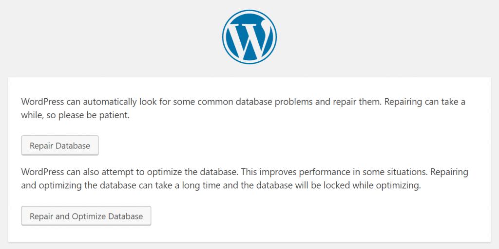 Reparar base de datos de WordPress