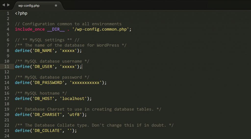Wp-config.php credenciales