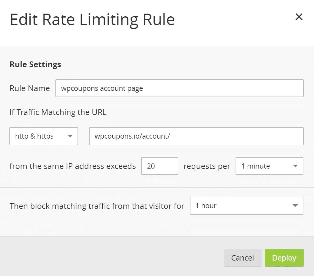 Limitación de velocidad IP