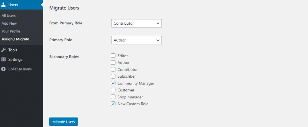 Migrar a todos los usuarios de un rol a otro
