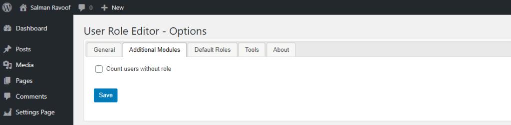 Los módulos adicionales ayudan a ampliar las características del Editor de Funciones del Usuario