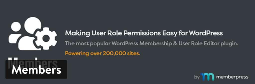 El plugin The 'Members' de MemberPress